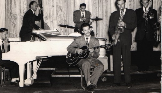 (sometime late 40ties/early50ties, other bandmembers unknown, courtesy of Joyce Glantz)
